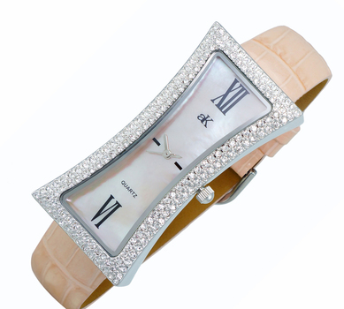 Mother of Pearl Dial, Genuine Leather Band, AK9715-LPK, Retail at $300.00