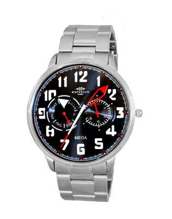 MULTI-FUNCTION, LUMINOUS HAND DAY-DATE DIAL, ON2233-MBK RETAIL AT $375.00