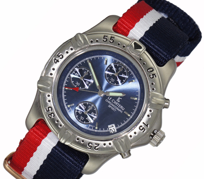 MULTI-FUNCTION, STAINLESS STEEL,DAY-DATE DIAL, LC2152-MBU, RETAIL AT (MSRP: $445.00)