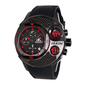 Multi-Piece Case, Carbon Fiber Accent on the Bezel, Chronograph, AK8001-MIPB. , Retail at $750.00