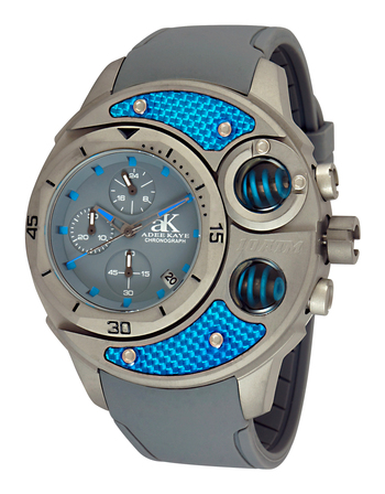 Multi-Piece Case, Carbon Fiber Accent on the Bezel, Chronograph, AK8001-MT. , Retail at $750.00
