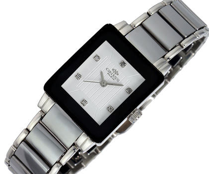 ONISS SWISS MOVEMENT, TUNGSTEN AND STAINLESS STEEL, ON607-LWT, RETAIL AT $600.00