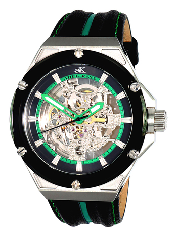 SEAGULL 20-JEWEL AUTOMATIC MOV'T. SKELETON DIAL,  AK2240-M/GN RETAIL AT $650.00