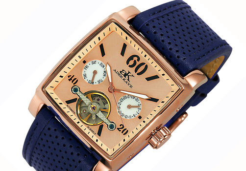 SEAGULL 20-JEWELS  MECHANICAL-AUTOMATIC, STAINLESS STEEL,  AK9043-RGLBU - RETAIL AT $650.00