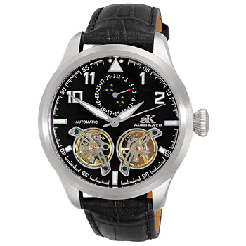 SKELETON DIAL , 38 JEWELS AUTOMATIC MOVEMENT, MESH BAND, AK2241-M/SV-MESH, RETAIL PRICE AT $725.00