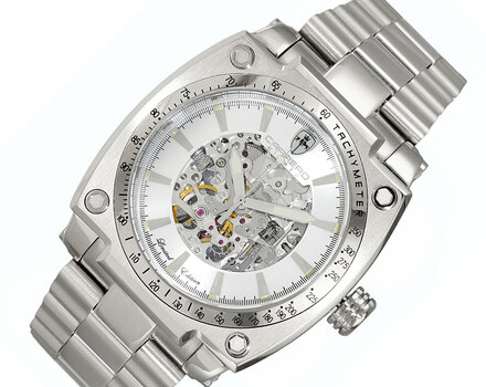 Skeleton Dial Automatic Watch, with Exhibition Back, LC1S777SV - Retail at (MSRP: $ 2,244.00)