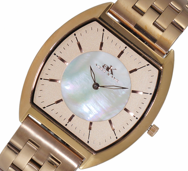 SLIM WATCH, MOTHER OF PEARL DIAL, AK2200-MBRG/RG, RETAIL AT $445.00