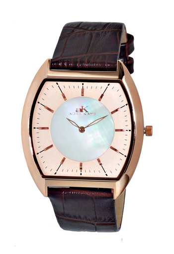 SLIM WATCH, MOTHER OF PEARL DIAL, AK2200-MRGRG, RETAIL AT $245.00