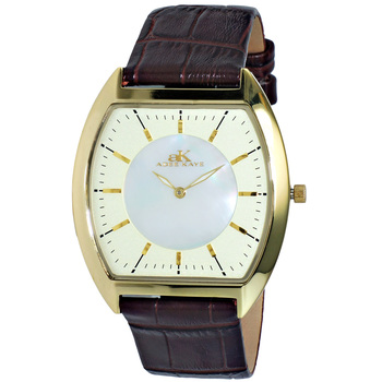 SLIM WATCH, MOTHER OF PEARL DIAL,GOLD TONE, AK2200-MGG, RETAILE PRICE AT $245.00