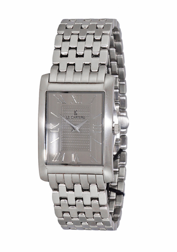 STAINLESS STEEL CASE AND BAND, LC121-MGY. RETAIL AT $450.00