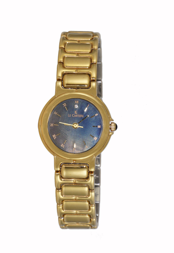 STAINLESS STEEL, GOLD TONE, 3-HADS DIAL, LC116-LGBK, RETAIL AT $45.00