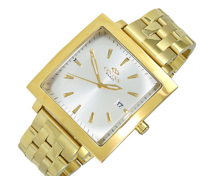 STAINLESS STEEL GOLD TONE, BLUUE - DATE DIAL, ON4444-MBG/SV - RETAIL AT $ 375.00