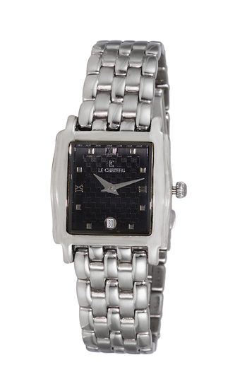 Stainless Steel, Silver tone,  Black Dial, LC2614-LBK