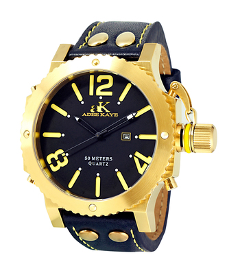 SUPER LUMINOVA DIAL WITH CROWN PROTECTOR, GENUINE LEATHER BAND, AK7211-MGBK - RETAIL AT $445.00