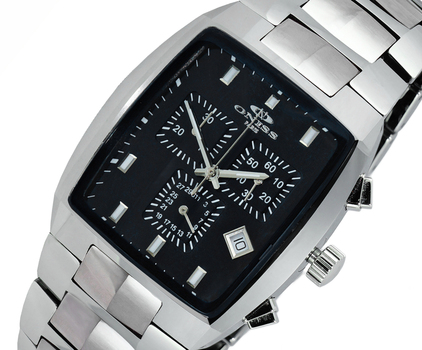 SWISS CHRONOGRAPH MOVEMENT, HIGH-TECH CERAMIC AND TUNGSTEN CASE AND BAND ON5900-11_BK -  RETAIL AT $745.00