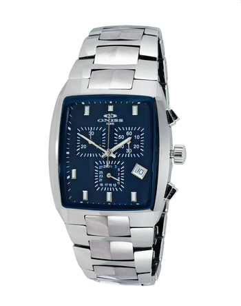 SWISS CHRONOGRAPH MOVEMENT, HIGH-TECH CERAMIC AND TUNGSTEN CASE AND BAND ON5900-40_BU -  RETAIL AT $745.00