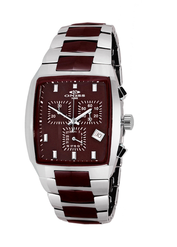 SWISS CHRONOGRAPH MOVEMENT, HIGH-TECH CERAMIC AND TUNGSTEN CASE AND BAND ON5900-60_BN -  RETAIL AT $745.00