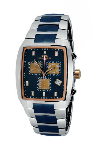 SWISS CHRONOGRAPH MOVEMENT, HIGH-TECH CERAMIC AND TUNGSTEN CASE AND BAND ON5900-80-2TRGBK, RETAIL AT $745.00