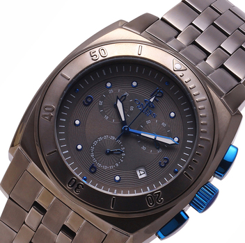 SWISS CHRONOGRAPH MOV'T. STAINELESS STEEL, MINERAL CRYSTAL, ON614-MT