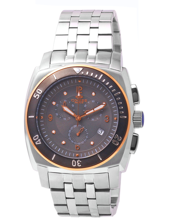 SWISS CHRONOGRAPH MOV'T, STAINELESS STEEL,  ONISS ON614-M - RETAIL AT $725.00
