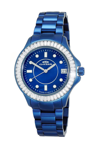 SWISS MOVEMENT, AUSTRIAN CRYSTAL ACCENT, MOP DIAL,  ON7324-70_IPBU - RETAIL AT $550.00