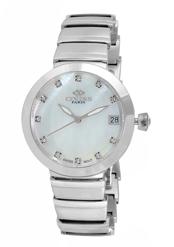SWISS MOVEMENT, AUSTRIAN CRYSTAL ACCENT, MOTHER OF PEARL DIAL, ON5559-11_SV - RETAIL AT 425.00