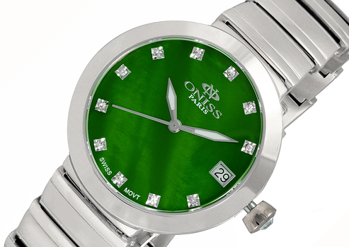 SWISS MOVEMENT, AUSTRIAN CRYSTAL ACCENT, MOTHER OF PEARL DIAL, ON5559-16_GN - RETAIL AT 425.00