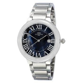 SWISS MOVEMENT, DATE MOP DIAL , ON1111-LBK - RETAIL AT $445.00