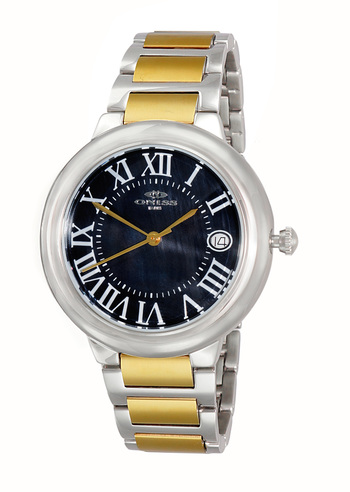 SWISS MOVEMENT, DATE MOP DIAL , ON1111-LTTG/BK - RETAIL AT $445.00