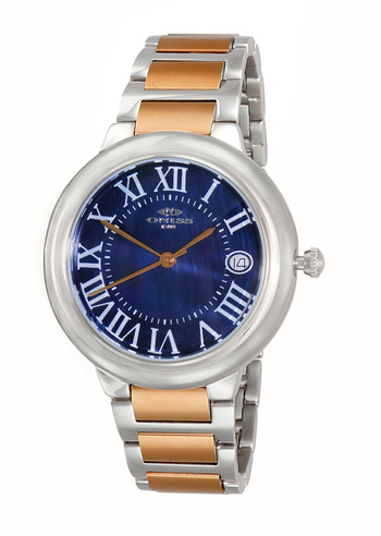 SWISS MOVEMENT, DATE MOP DIAL , ON1111-LTTRG/BU - RETAIL AT $445.00