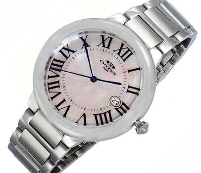 SWISS MOVEMENT, DATE - MOP DIAL , ON1111-LWT - RETAIL AT (MSRP: $445.00)