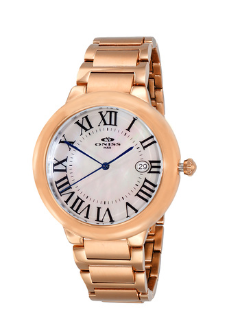 SWISS MOVEMENT, DATE MOP DIAL , ON1111-RGWT - RETAIL AT $420.00