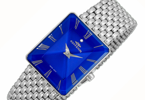 SWISS MOVEMENT, FACETED CRYSTAL ACCENT, ON4242-12_LBU - RETAIL AT $425.00