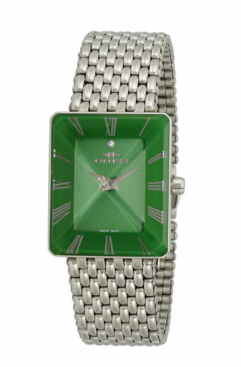 SWISS MOVEMENT, FACETED CRYSTAL ACCENT, ON4242-13_LGN - RETAIL AT $425.00