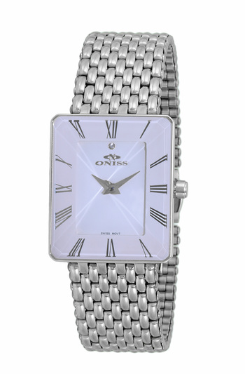 SWISS MOVEMENT, FACETED CRYSTAL ACCENT, ON4242-14_LWT - RETAIL AT $425.00