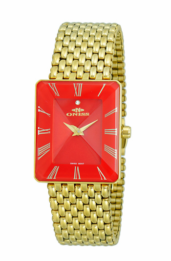 SWISS MOVEMENT, FACETED CRYSTAL ACCENT, ON4242-21_LGRD - RETAIL AT $425.00