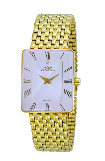 SWISS MOVEMENT, FACETED CRYSTAL ACCENT, ON4242-24_LGWT - RETAIL AT $425.00
