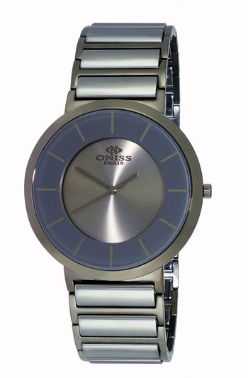 SWISS MOVEMENT, HIGH TECH CERAMIC AND STAINLESS STEEL CASE AND BAND, ON5555-77 (MTT) - RETAIL AT $795.00