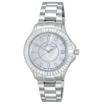 SWISS MOVEMENT, MULTI-COLOR AUSTRIAN CRYSTAL ACCENT, MOP DIAL,  ON7323-30_LWT- RETAIL AT $550.00