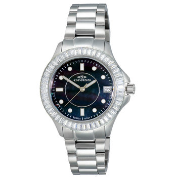 SWISS MOVEMENT, MULTI-COLOR AUSTRIAN CRYSTAL ACCENT, MOP DIAL,  ON7323-50_LBK- RETAIL AT $550.00