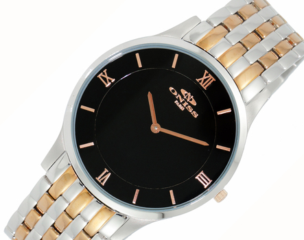 SWISS MOVEMENT, SLIM WATCH, ON5562-TTBK, RETAIL AT $295.00