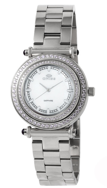 SWISS MOV'T, AUSTRIAN CRYSTAL, ON8182-L/WT, RETAIL AT $700.00