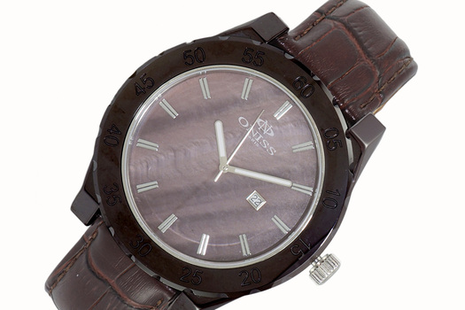 SWISS MOV'T, HIGH TECH CERAMIC, MOTHER OF PEARL DIAL , ON8174-BN-LBN - RETAIL AT $725.00