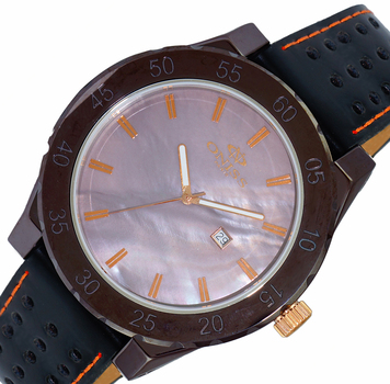 SWISS MOV'T, HIGH TECH CERAMIC, MOTHER OF PEARL DIAL , ON8174-MRGBN-LB - RETAIL AT $725.00