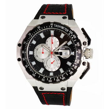 SWISS MOV'T, SANDWICH CASE 25 PIECE CASE,  CHRONOGRAPH WITH TYCH YMETER, ON3255-MBK - RETAIL AT $825.00