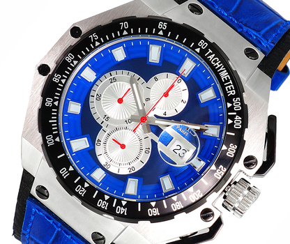 SWISS MOV'T, SANDWICH CASE 25 PIECE CASE,  CHRONOGRAPH WITH TYCHYMETER, ON3255-MBU - RETAIL AT $825.00