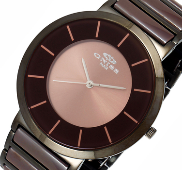 Swiss Parts, High Tech Ceramic Watch, ON1004-IPBN, Retail at $595.00