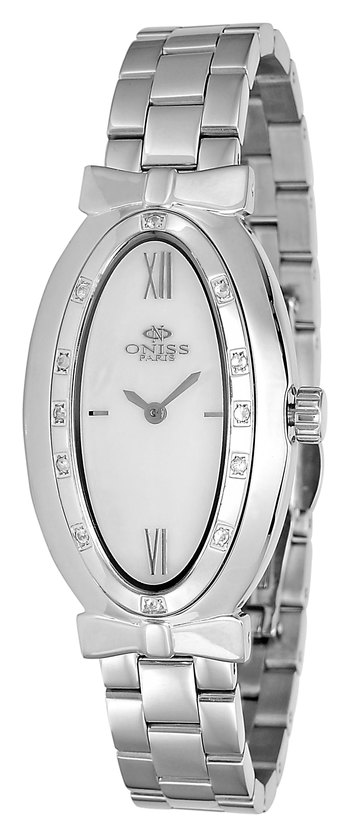 SWISS QUARTZ MOVEMENT, GENUINE SAPPHIRE STONE, MOP DIAL,  ONISS ON2279-LWT - RETAIL AT $600.00