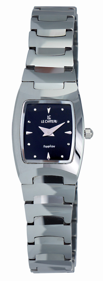 TUNGSTEN CASE AND BAND, SAPPHIRE CRYSTAL, LC3504_BK - RETAIL AT $345.00.