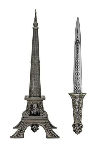 New Paris Tower Statue Knife